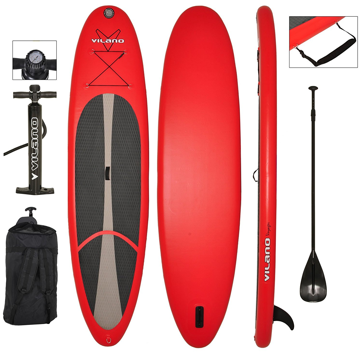 Vilano Voyager Inflatable Stand-up Paddle Board Package
