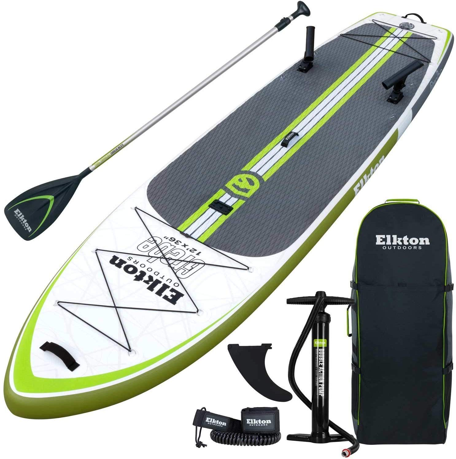 Elkton Outdoors Grebe Fishing Inflatable Stand Up Paddle Board